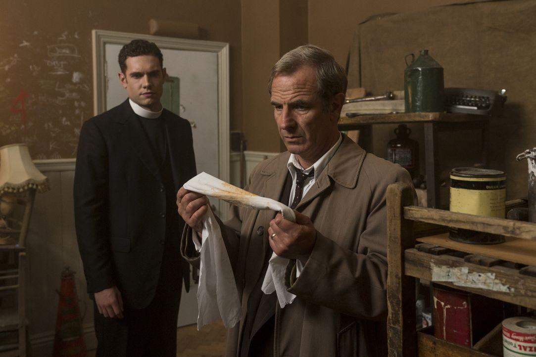 Will Davenport (Tom Brittney, l.); Geordie Keating (Robson Green, r.) - Bildquelle: Colin Hutton Kudos/ITV/Masterpiece / Colin Hutton