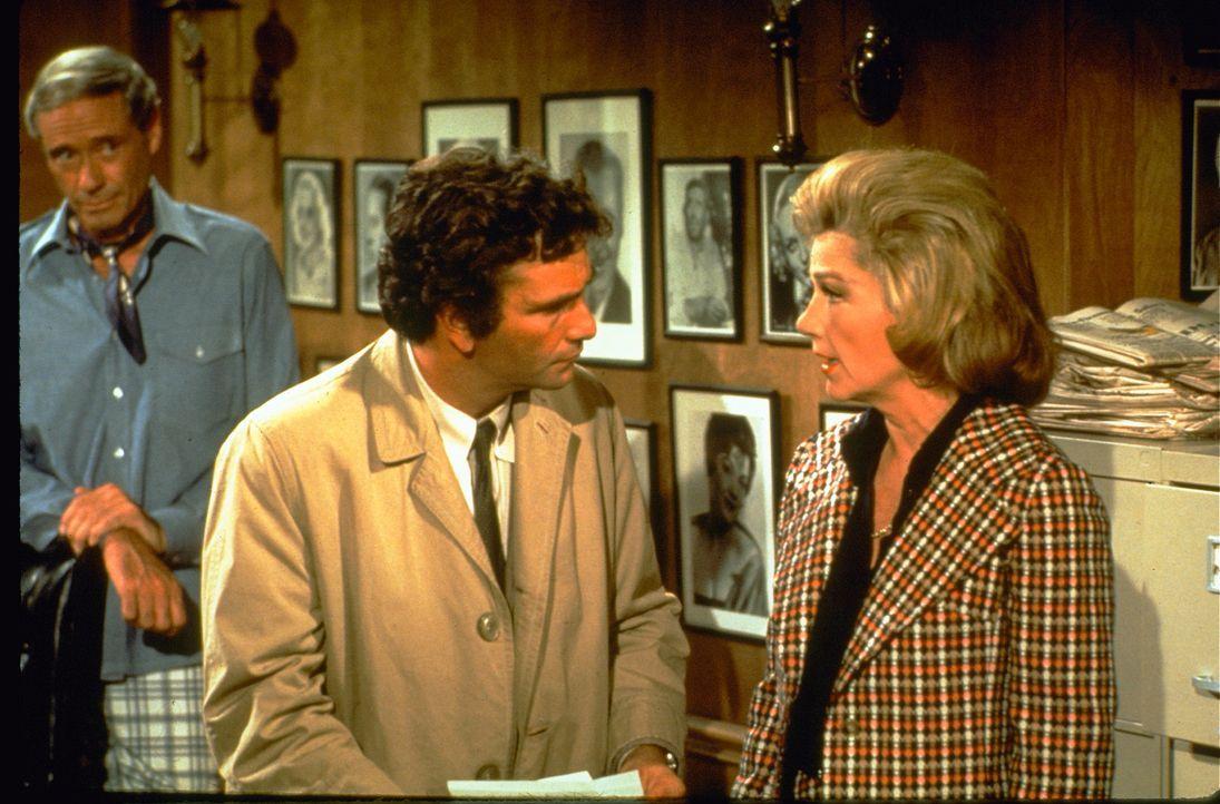 (v.l,n.r.) Jerry Parks (Mel Ferrer); Columbo (Peter Falk);Nora Chandler (Anne Baxter) - Bildquelle: 1972 Universal City Studios LLLP. All Rights Reserved.