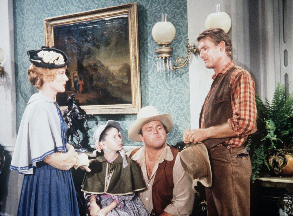 Als Wade Tyree (Don Collier, r.), ein fleißiger Kleinrancher und Nachbar der Cartwrights, von seiner Braut verlassen wird, ergibt er sich dem Suff.... - Bildquelle: Paramount Pictures