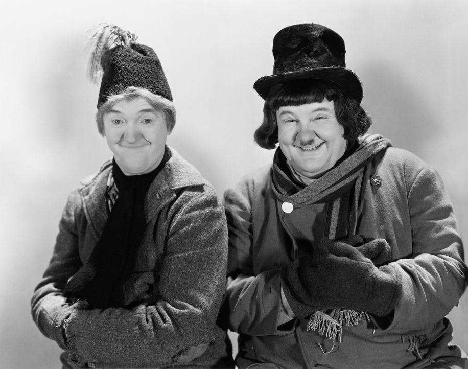Stan (Stan Laurel, l.); Ollie (Oliver Hardy, r.) - Bildquelle: CCA