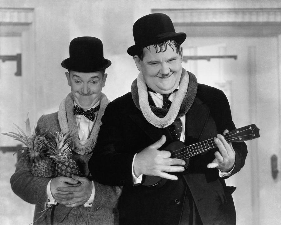 Stan (Stan Laurel, l.);Ollie (Oliver Hardy, r.) - Bildquelle: CCA