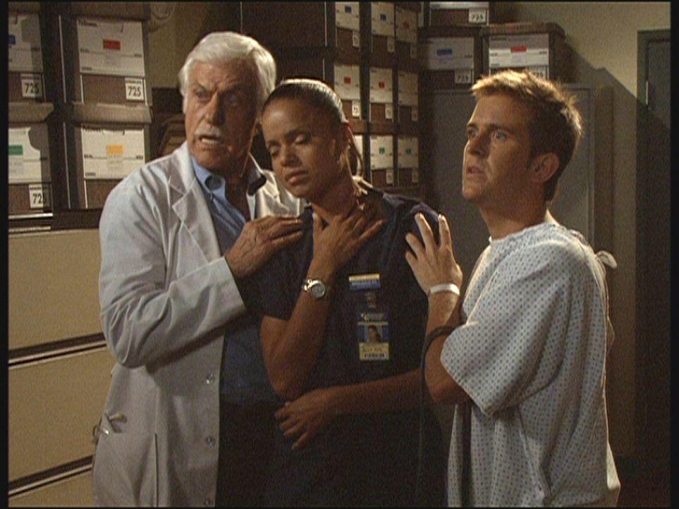Mark (Dick Van Dyke, l.) und Jesse (Charlie Schlatter, r.) haben in letzter Sekunde Amanda (Victoria Rowell, M.) vor einem Anschlag eines Serienmörd... - Bildquelle: Viacom