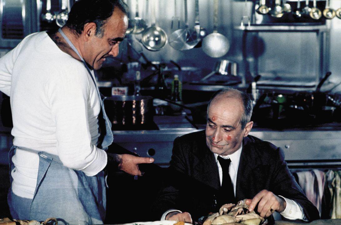 Gastronom Charles Duchemin (Louis de Funès, r.) ist der gefürchtetste Restaurant-Tester im ganzen Land. Sein größter Feind ist ein Lebensmittelbaron... - Bildquelle: Kinowelt GmbH