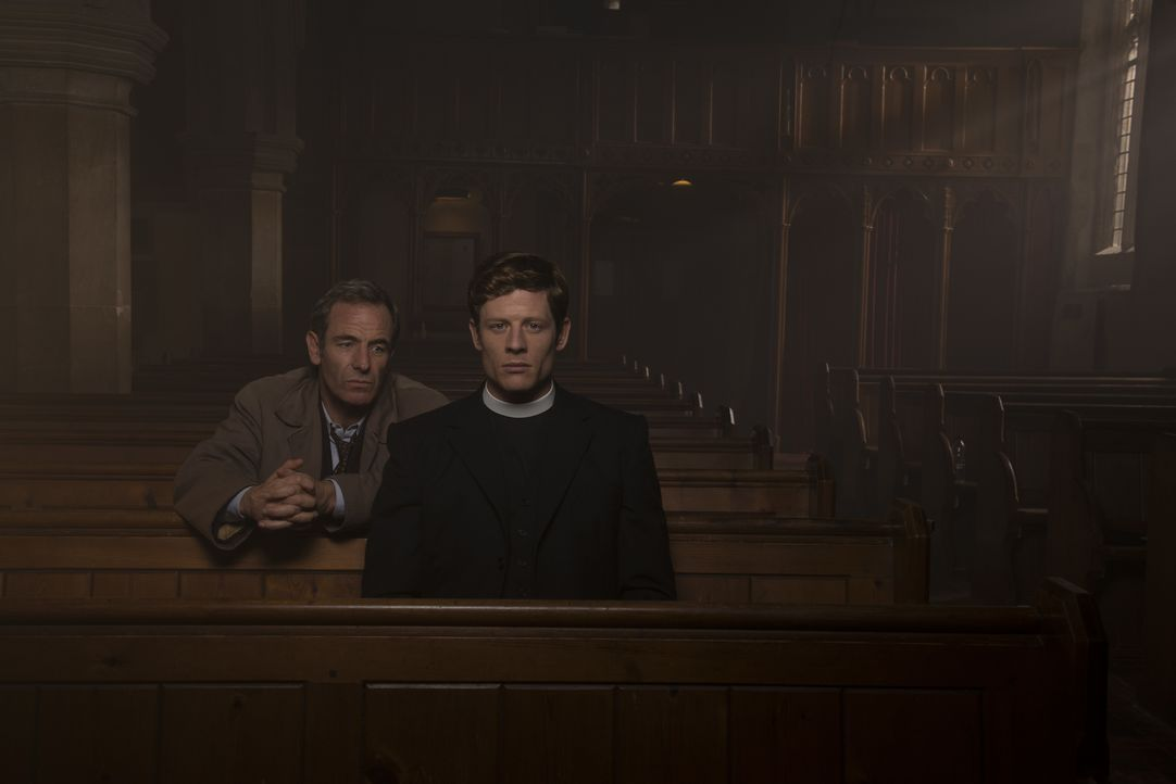Geordie Keating (Robson Green, l.); Sidney Chambers (James Norton, r.) - Bildquelle: Des Willie LOVELY DAY PRODUCTION / ITV / Des Willie