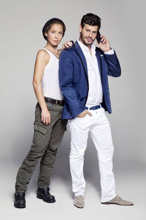 Sind voneinander angetan, doch werden Luca (Manuel Cortez, r.) und Nina (Maria Wedig, l.) zusammenfinden? - Bildquelle: Bernd Jaworek SAT.1