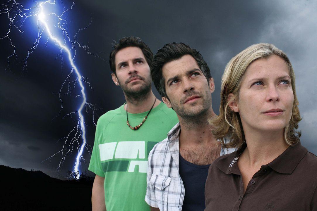 v.l.n.r.: Bernie (Manuel Witting), Tom (Xaver Hutter) und Andrea (Valerie Niehaus) - Bildquelle: Petro Domenigg Sat.1