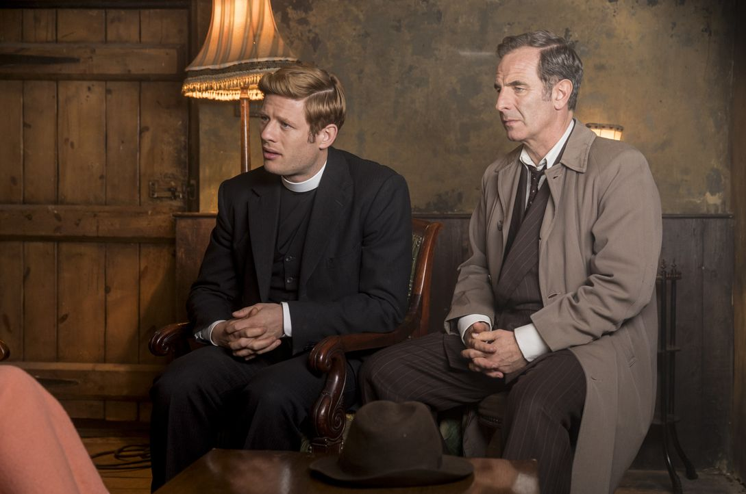 Sidney Chambers (James Norton, l.); Geordie Keating (Robson Green, r.) - Bildquelle: Colin Hutton KUDOS/ITV / Colin Hutton