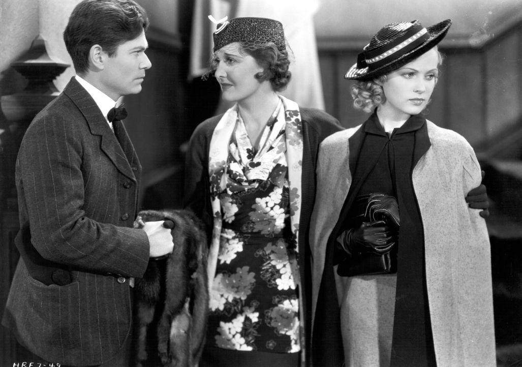 (v.l.n.r.) Mr. Miggs (David Torrence); Lady Violet Ormsby (Anne Grey); Lorna MacLaurel (June Lang) - Bildquelle: Warner Bros.