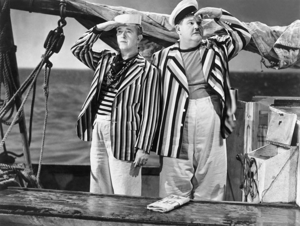 Stan (Stan Laurel, l.); Ollie (Oliver Hardy, r.) - Bildquelle: United Artists