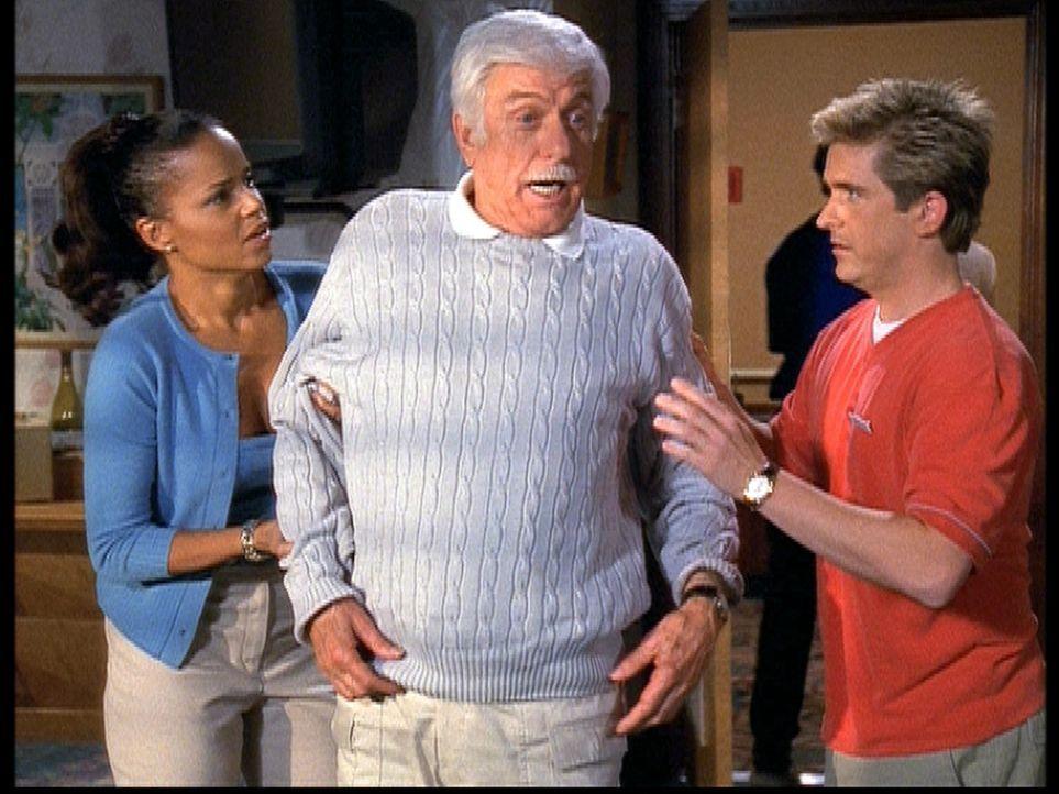 Amanda (Victoria Rowell, l.) und Jesse (Charlie Schlatter, r.) kümmern sich um Mark (Dick Van Dyke, M.), der nach dem Anschlag noch neben sich steht. - Bildquelle: Viacom