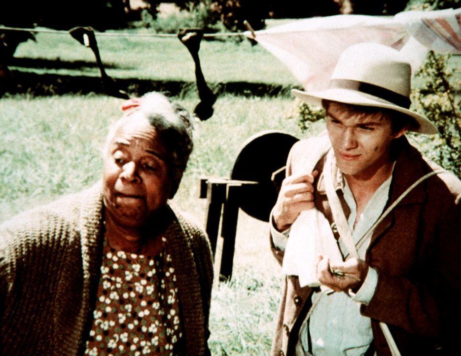Eigentlich will sich John-Boy (Richard Thomas, r.) für zwei Tage in der einsamen Montgomery-Hütte einquartieren, um in Ruhe eine Geschichte für die... - Bildquelle: WARNER BROS. INTERNATIONAL TELEVISION