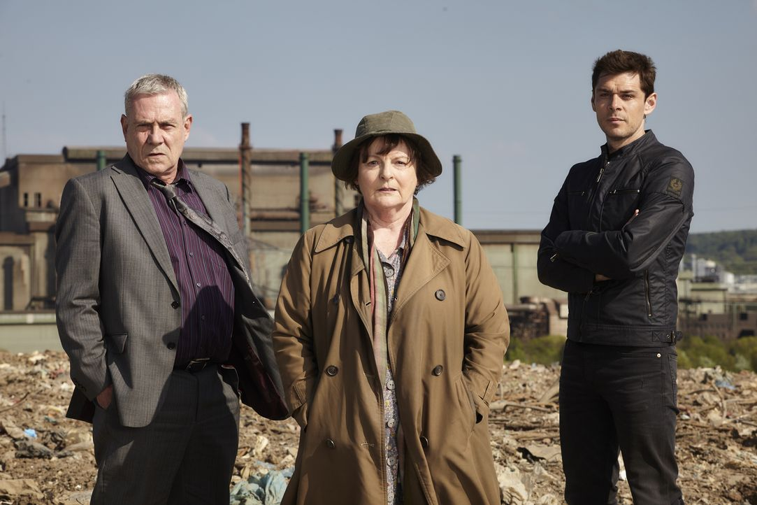 (v.l.n.r.) Kenny Lockhart (Jon Morrison); Vera Stanhope (Brenda Blethyn); Aiden Healy (Kenny Doughty) - Bildquelle: Helen Williams ITV Studios
