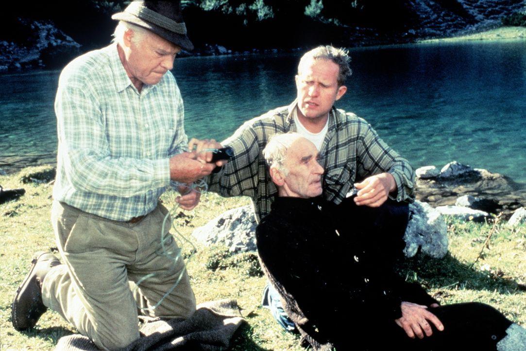 (v.l.n.r.) Dr. Pankraz Obermayr (Walther Reyer); Dr. Justus Hallstein (Harald Krassnitzer); Hans Melzig (Richard Beek) - Bildquelle: Beta Film GmbH