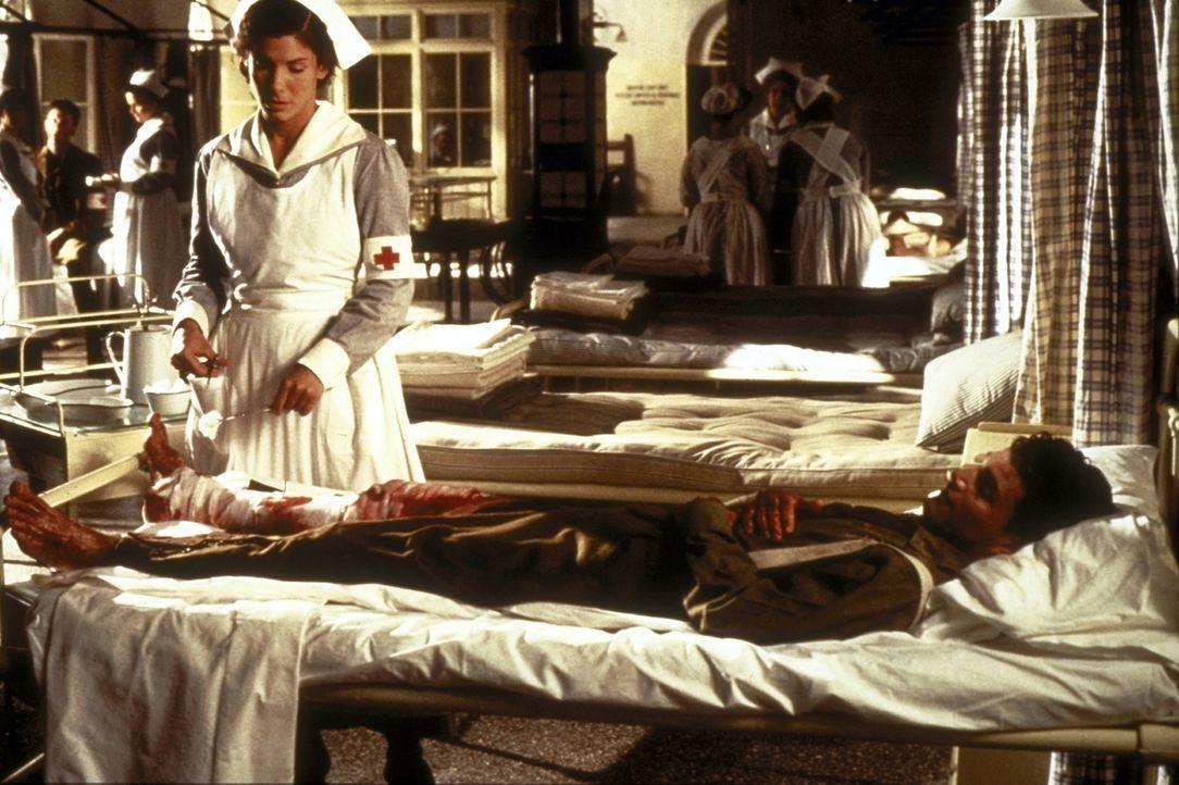 Liebevoll nimmt sich die Krankenschwester Agnes von Kurowsky (Sandra Bullock) der Verwundeten an ... - Bildquelle: Warner Bros.