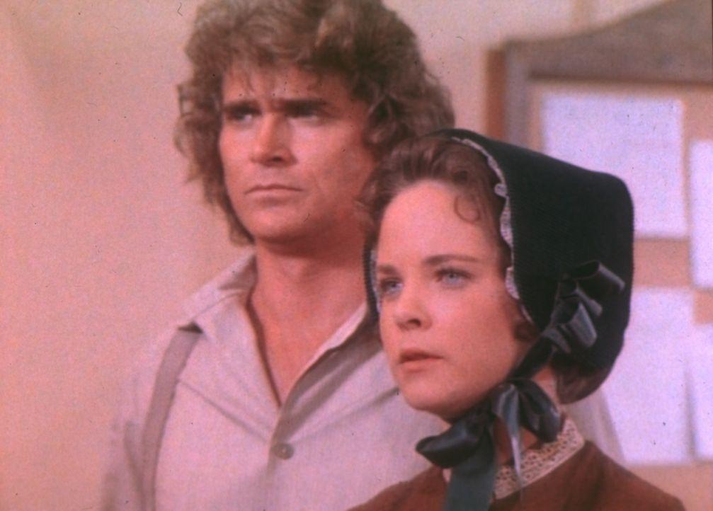 Mit einem hervorragenden Plädoyer erwirkt Mary (Melissa Sue Anderson, r.), dass ihr Mann Adam die Prüfung wiederholen kann. Charles (Michael Landon,... - Bildquelle: Worldvision