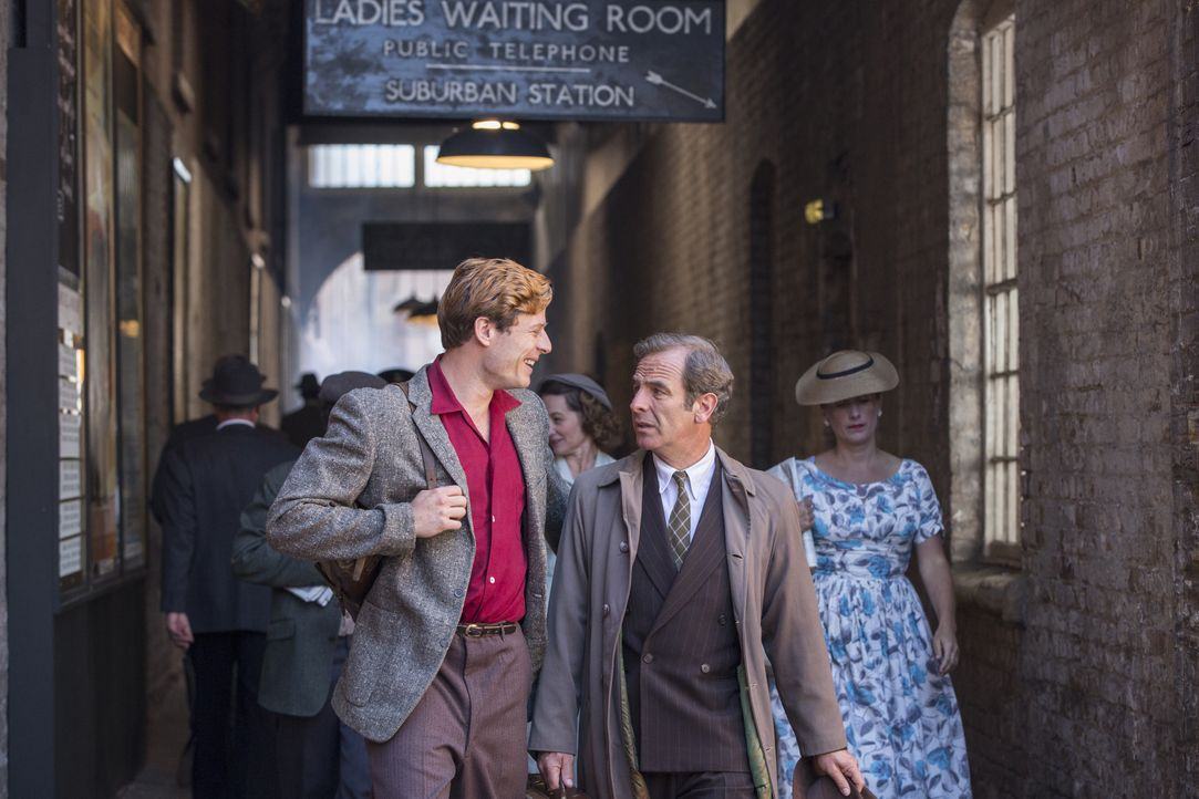 Sidney Chambers (James Norton, l.); Geordie Keating (Robson Green, r.) - Bildquelle: Colin Hutton LOVELY DAY PRODUCTION / ITV / Colin Hutton