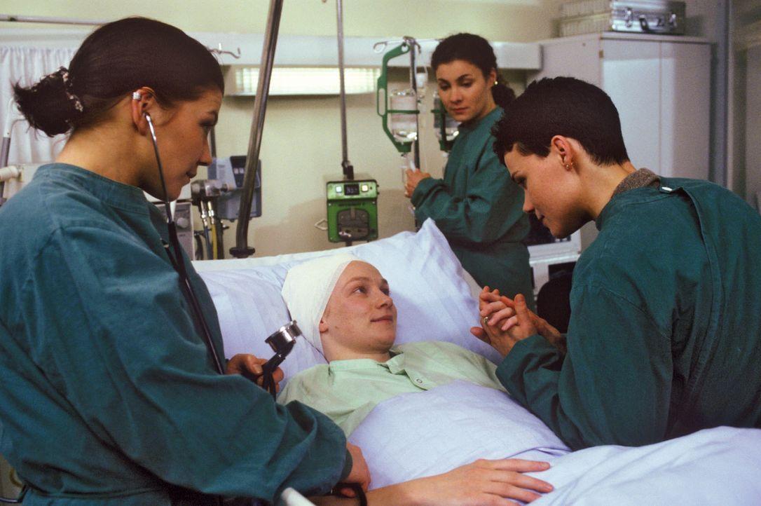 Stephanie (Claudia Schmutzler, l.) und Stefanie (Kathrin Waligura, 2.v.r.) setzen sich sehr für das Glück von Annette Wendland (Gundula Köster, 2... - Bildquelle: Noreen Flynn Sat.1