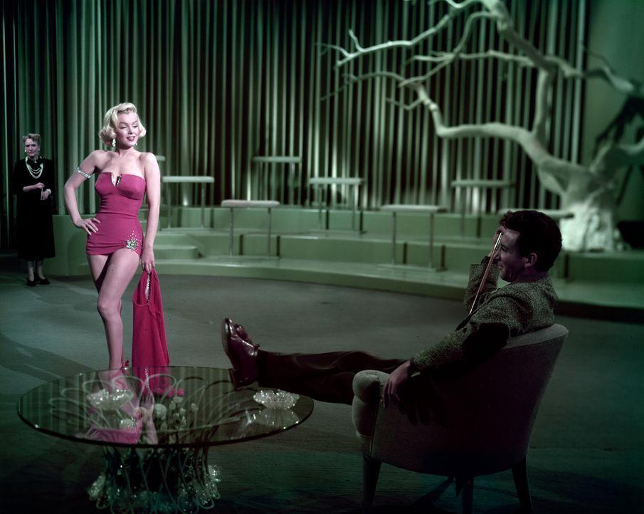 (v.l.n.r.) Pola Debevoise (Marilyn Monroe); Tom Brookman (Cameron Mitchell) - Bildquelle: 1953 Twentieth Century Fox Film Corporation.