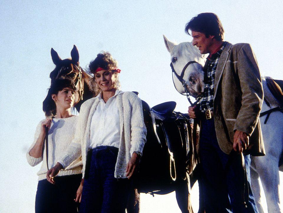 Lee (Bruce Boxleitner, r.) muss Amanda (Kate Jackson, M.) und eine arabische Prinzessin (Jane Kaczmarek, l.) vor einem Attentäter schützen. Keine le... - Bildquelle: CBS Television