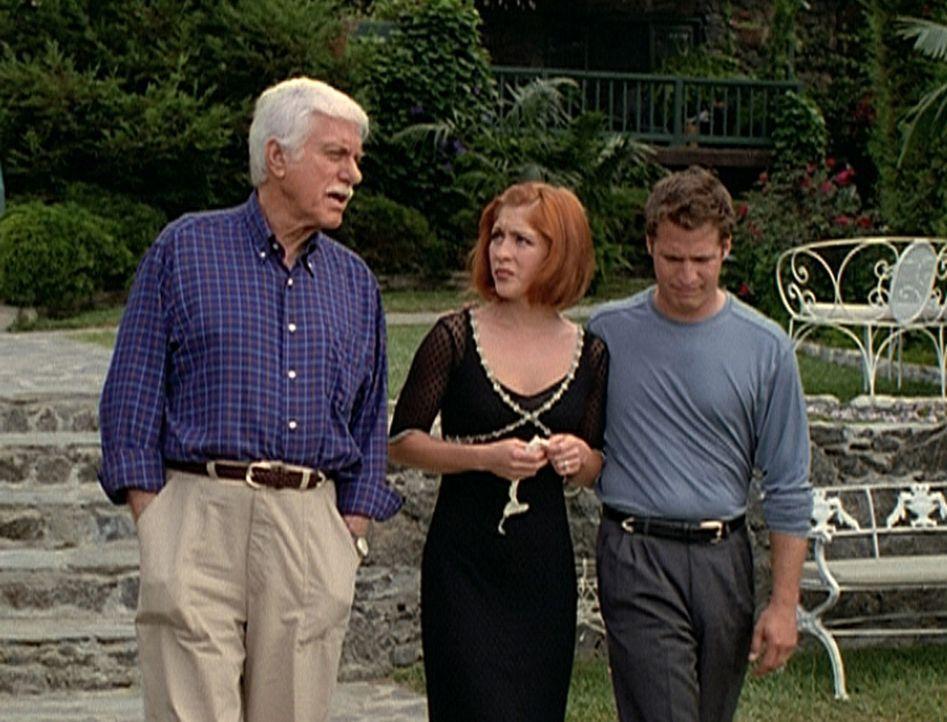 Mark Sloan (Dick Van Dyke, l.) versucht, Cindy (Staci Keanan, r.) zu trösten, deren Vater an ihrem Hochzeitstag mit Phillip einem Asthmaanfall erleg... - Bildquelle: Viacom