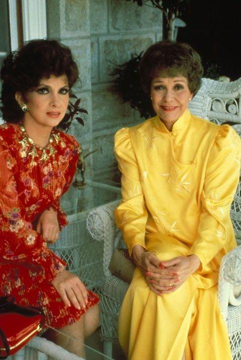 Angela (Jane Wyman, r.) bekommt überraschend Besuch aus Italien. Ihre Verwandte Francesca Gioberti (Gina Lollobrigida, l.) steckt nach einer schlech... - Bildquelle: 1984   Warner Brothers