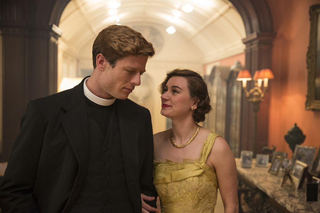 Sidney Chambers (James Norton, l.); Daphne Young (Pippa Nixon, r.) - Bildquelle: LOVELY DAY PRODUCTION / ITV
