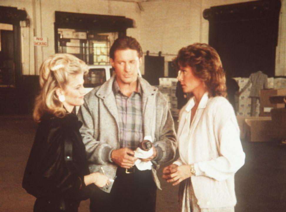 (v.l.n.r.) Francine (Martha Smith), Lee (Bruce Boxleitner) und Amanda (Kate Jackson) sind auf der Spur des Heiratsschwindlers Cross, dem jedes Mitte...