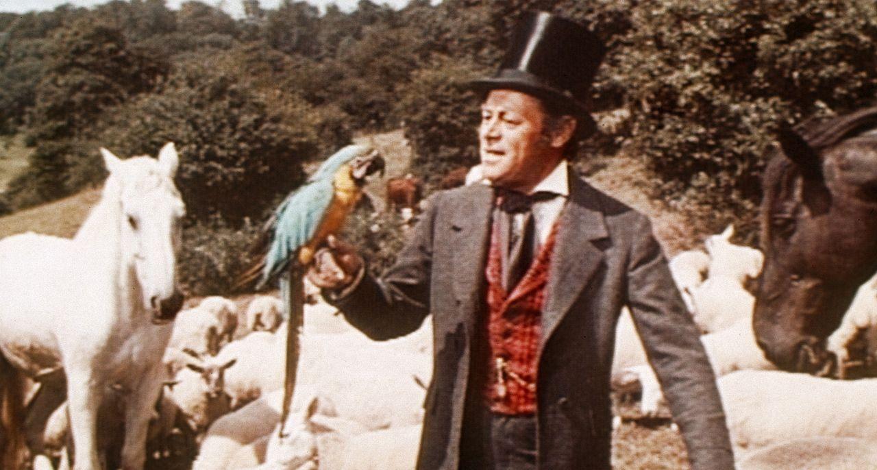 Doctor Dolittles pfiffiger Papagei Polynesia hat seinem Herrchen (Rex Harrison) die verschiedenen Dialekte der Tiere beigebracht. Jetzt kann sich de... - Bildquelle: 20th Century Fox Film Corporation