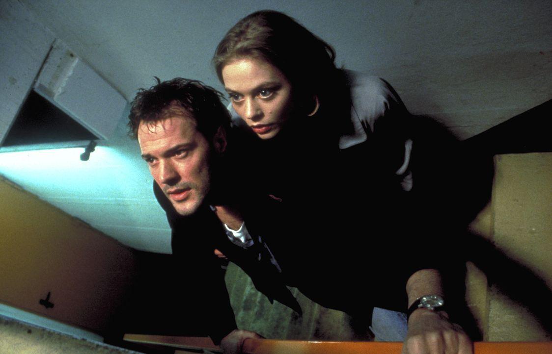 Als Robert (Sebastian Koch, l.) seine geheimnisvolle Fremde (Susanna Simon, r.) aufspürt, befindet sich diese in großer Lebensgefahr: Eine Killerban... - Bildquelle: Kurt Bauer ProSieben/Bauer