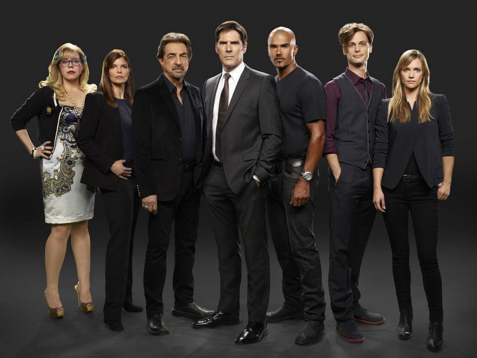 (9. Staffel) - Ein starkes Team, das jeden Serientäter zur Strecke bringt: Dr. Spencer Reid (Matthew Gray Gubler, 2.v.r.), Derek Morgan (Shemar Moor... - Bildquelle: ABC Studios