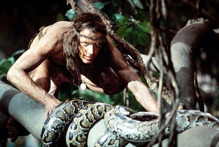 Von den Affen aufgenommen und aufgezogen, entwickelt sich Tarzan (Christopher Lambert) zum Herrscher des Dschungels. Wie seine Ziehfamilie schwingt... - Bildquelle: Warner Bros.