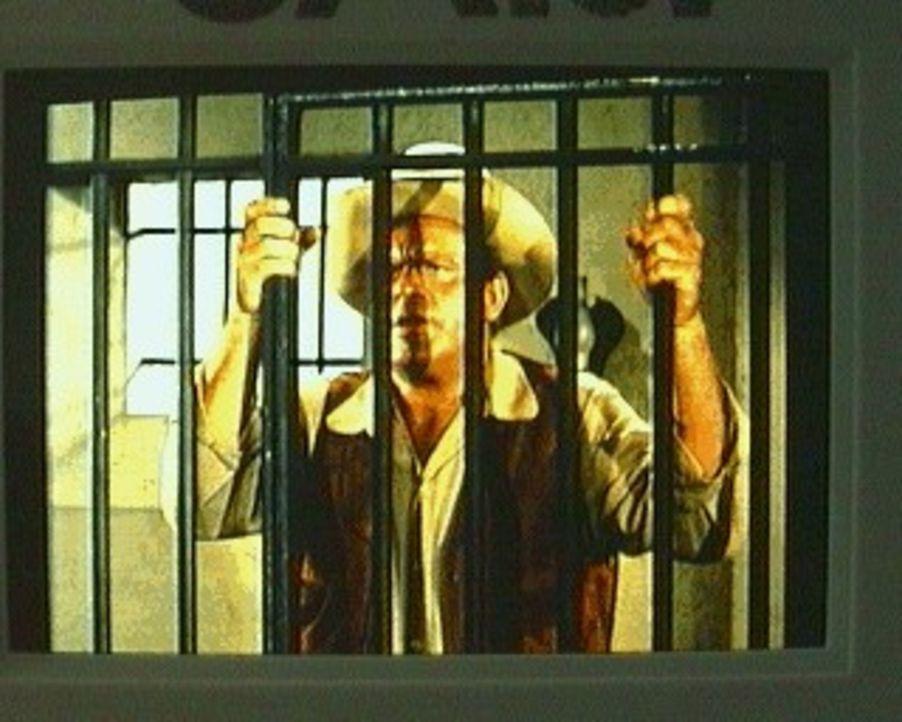 Weil er nicht das Gegenteil beweisen kann, sitzt Hoss (Dan Blocker) wegen Verdachts der Beteiligung an einem Banküberfall im Kittchen. Die geschädig... - Bildquelle: Paramount Pictures
