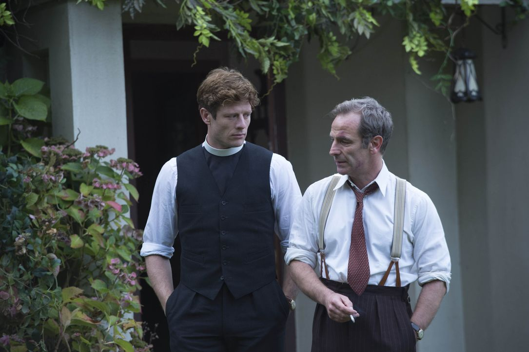 Sidney Chambers (James Norton, l.); Geordie Keating (Robson Green, r.) - Bildquelle: Des Willie LOVELY DAY PRODUCTION / ITV / Des Willie