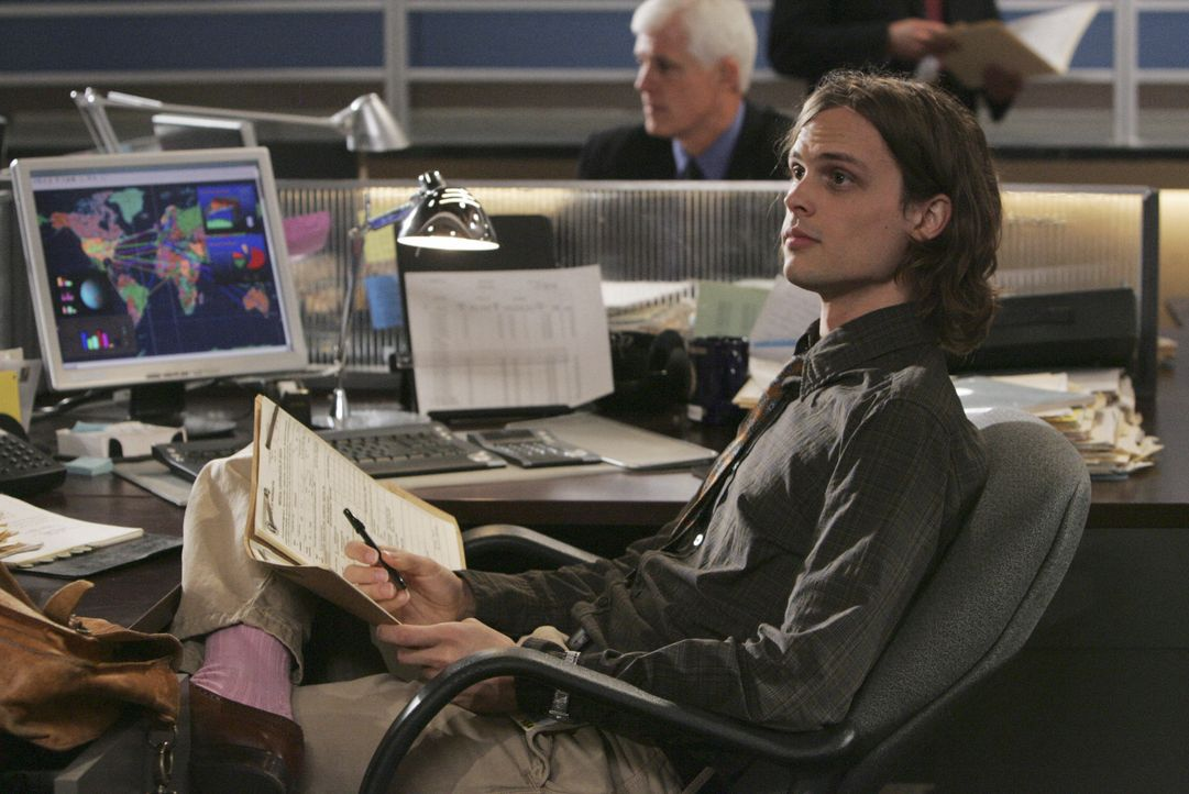 Rettete sich und Hotch, der nur noch an seine Scheidung von Haley denken muss, das Leben: Reid (Matthew Gray Gubler) ... - Bildquelle: Monty Brinton 2008 ABC Studios. All rights reserved. NO ARCHIVE. NO RESALE. / Monty Brinton