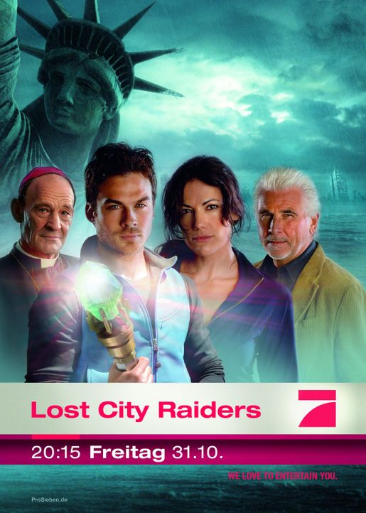 Lost City Raiders mit (v.l.n.r.) Michael Mendl, Ian Somerhalder, Bettina Zimmermann und James Brolin - Bildquelle: ProSieben / TANDEM COMMUNICATIONS - All Rights Reserved