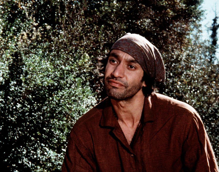 Zusammen mit seiner Familie hat sich der Zigeuner Volta (Gregory Sierra) im Haus der Baldwin-Schwestern niedergelassen. - Bildquelle: WARNER BROS. INTERNATIONAL TELEVISION