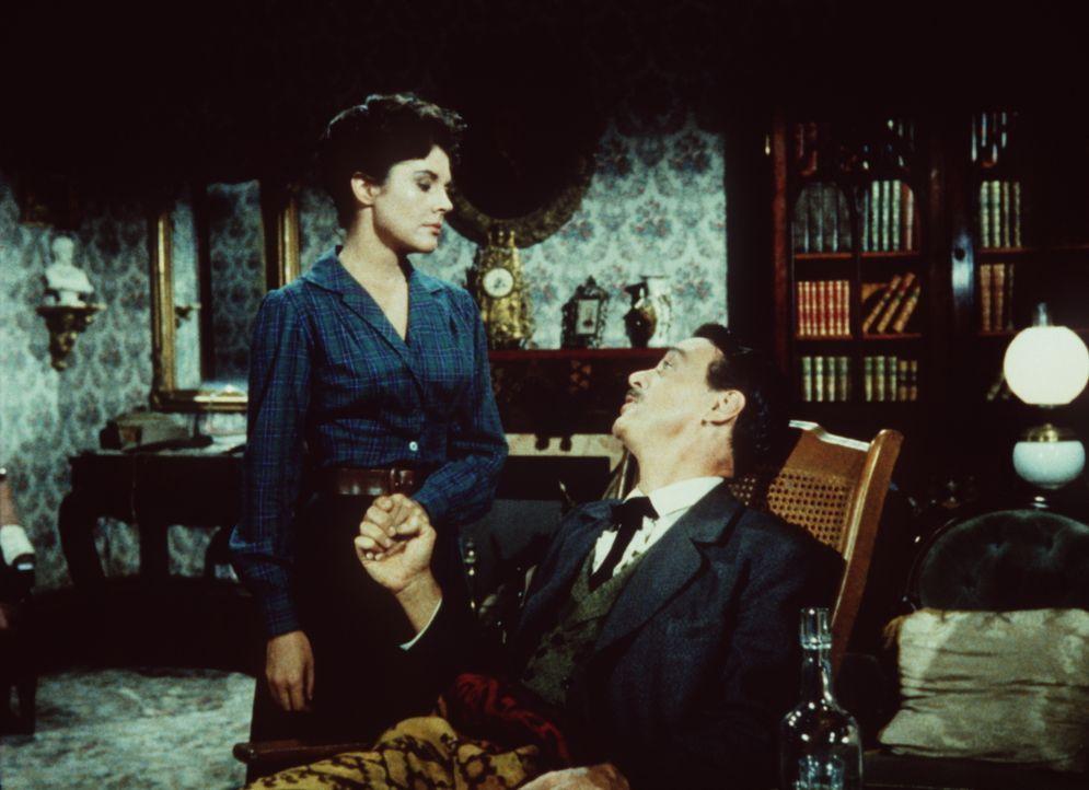 Joyces (Dianne Foster, l.) Verhältnis zu ihrem Mann Tom (Harry Townes, r.) ist gespannt, seitdem er bei einem Jagdunfall schwer verletzt wurde. - Bildquelle: Paramount Pictures