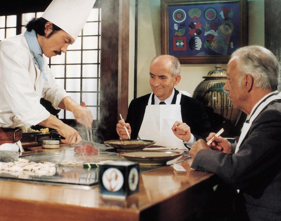 Als Liebhaber von gutem Essen, gibt es niemanden, den Charles (Louis de Funès, M.) so verabscheut wie Jacques Tricatel, ein Hersteller von Fertigeri... - Bildquelle: Kinowelt GmbH