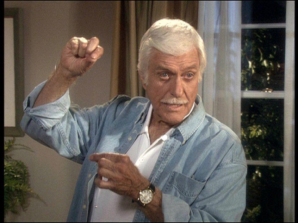 Mark (Dick Van Dyke) und sein Team haben einen Mordfall aufzuklären, der während einer Fernsehübertragung, von den Kameras unentdeckt, geschah. - Bildquelle: Viacom