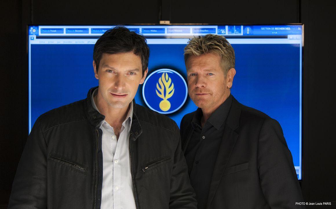 Werden sich Lucas Auriol (Franck Sémonin, l.) und sein neuer Captain Martin Bernier (Xavier Deluc, r.) miteinander arrangieren können? - Bildquelle: Jean Louis PARIS