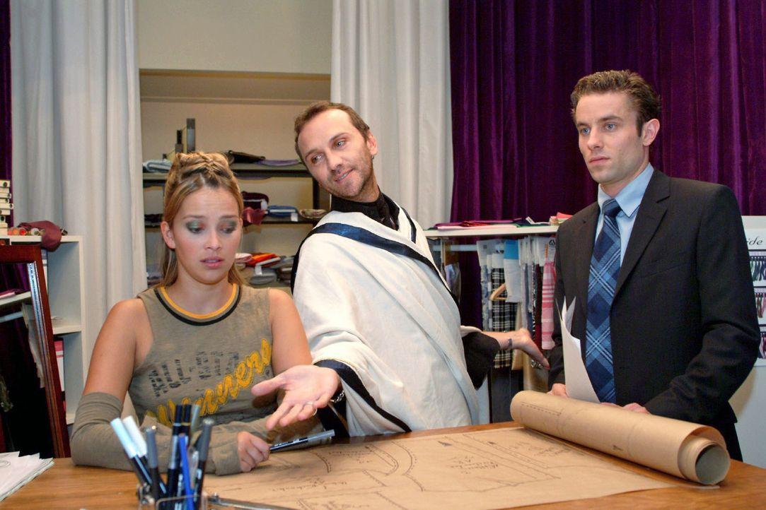 Hannah erkennt besorgt, dass es um Hugo nicht gut steht. v.l.n.r.: Hannah (Laura Osswald), Hugo (Hubertus Regout), Max (Alexander Sternberg) - Bildquelle: Monika Schürle Sat.1