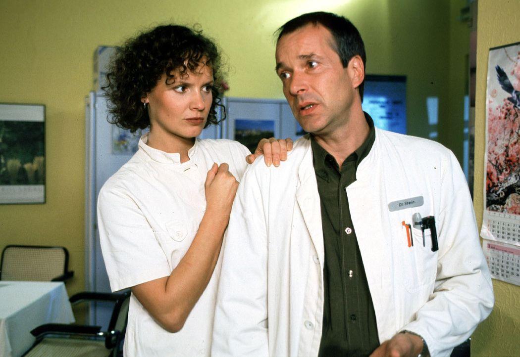Dr. Stein (Christoph Schobesberger, r.) gerät in Verdacht, die junge Tramperin Jasmin, die er zufällig in seinem Auto mitgenommen hatte, zusammenges... - Bildquelle: Noreen Flynn Sat.1