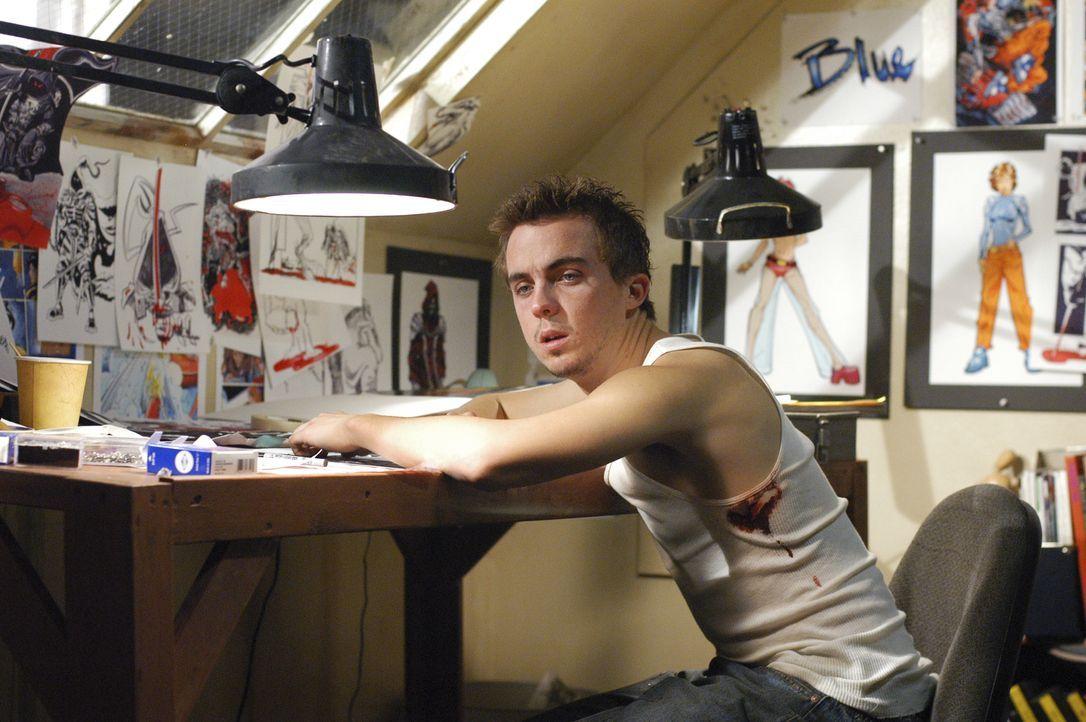 Der Comicbuchautors Jonny McHale (Frankie Muniz) ahnt nicht, dass er an einer posttraumatische Störung leidet und nachts mordend durch die Strassen... - Bildquelle: Gale Adler 2007 ABC Studios. All rights reserved. NO ARCHIVE. NO RESALE. / Gale Adler