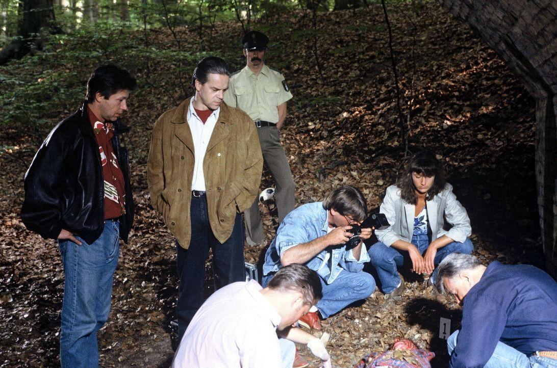 Der Frührentner Leo Tomek wird im Wald tot aufgefunden. Alle Indizien weisen darauf, dass es sich um ein Verbrechen handelt. Ein Fall für Hauptkom... - Bildquelle: Alfred Raschke Sat.1