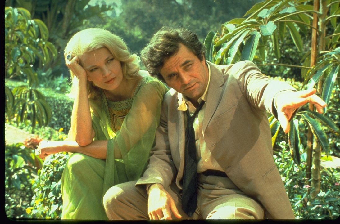 Elizabeth Van Wick (Gena Rowlands, l.); Columbo (Peter Falk, r.) - Bildquelle: 1974 Universal City Studios LLLP. All Rights Reserved.
