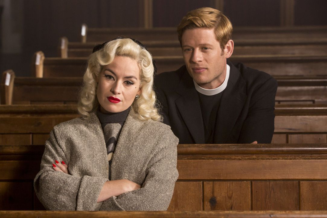 Linda Morgan (Maimie McCoy, l.); Sidney Chambers (James Norton, r.) - Bildquelle: Colin Hutton LOVELY DAY PRODUCTION / ITV / Colin Hutton