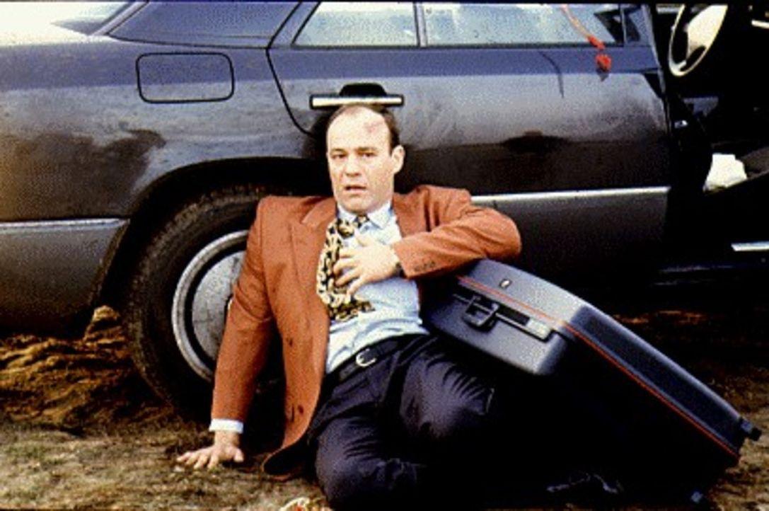 Als Bela Ungaro (Heiner Lauterbach) mit seinem Wagen vor den Toren Berlins verunglückt und die Polizei seinen Koffer mit 20 Millionen Mark sicherste... - Bildquelle: Alfred Raschke Sat.1
