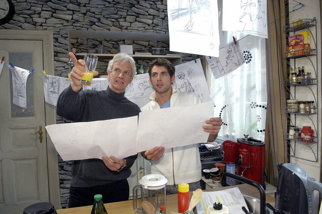 Roberts (Mathieu Carrière, l.) und Jonas' (Roy Peter Link, r.) Arbeit hat Früchte getragen ... - Bildquelle: Claudius Pflug Sat.1