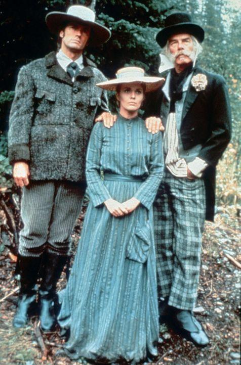 (v.l.n.r.) Pardner (Clint Eastwood); Elizabeth (Jean Seberg); Ben Rumson (Lee Marvin) - Bildquelle: TM, ® &   2018 by Paramount Pictures. All Rights Reserved.