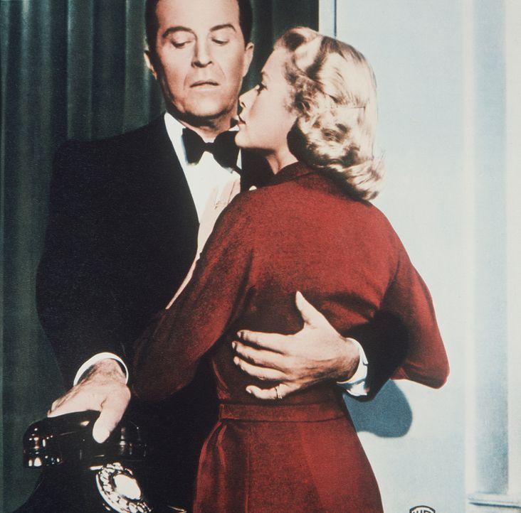 Aus Angst vor einer Scheidung plant Tony (Ray Milland, l.), seine schöne, reiche Frau Margot (Grace Kelly, r.) ermorden zu lassen ... - Bildquelle: Warner Bros.